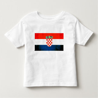 Colorful Contrast Croatian Flag Toddler T-shirt