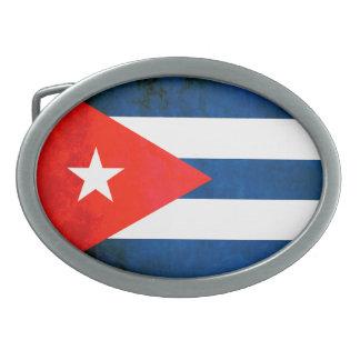 Colorful Contrast Cuban Flag Oval Belt Buckles