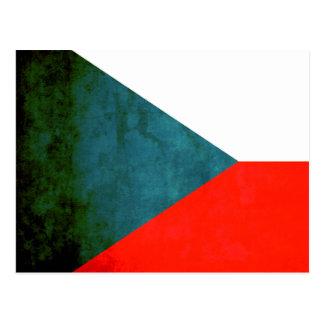 Colorful Contrast Czech Flag Postcard