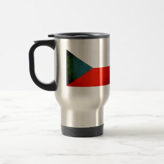 Colorful Contrast Czech Flag Travel Mug