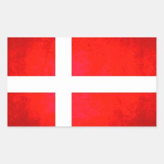 Colorful Contrast Danish Flag Sticker