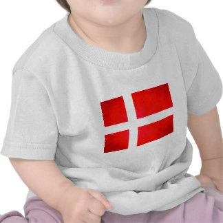 Colorful Contrast Danish Flag T Shirts