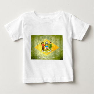Colorful Contrast Delawarean Flag Baby T-Shirt