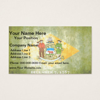 Colorful Contrast Delawarean Flag Business Card