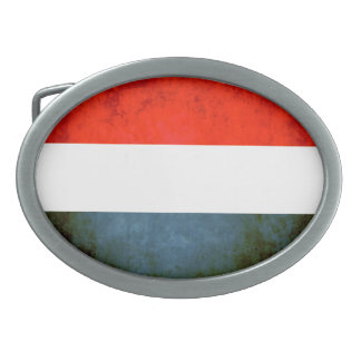 Colorful Contrast Dutch Flag Oval Belt Buckle