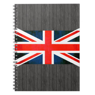 Colorful Contrast EnglishFlag Notebook