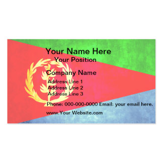 Colorful Contrast Eritrean Flag Business Card
