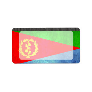 Colorful Contrast Eritrean Flag Label