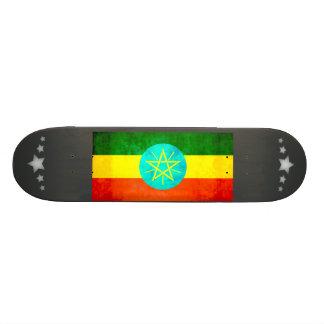 Colorful Contrast Ethiopian Flag Skate Board Decks