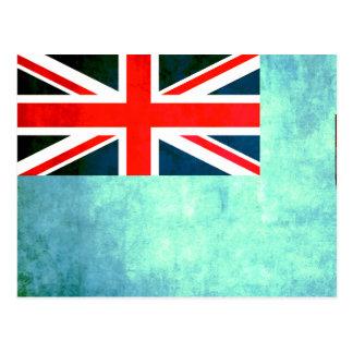 Colorful Contrast Fijian Flag Postcard