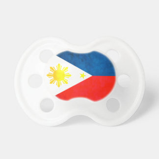 Colorful Contrast FilipinoFlag Baby Pacifier