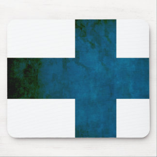 Colorful Contrast Finnish Flag Mouse Pad