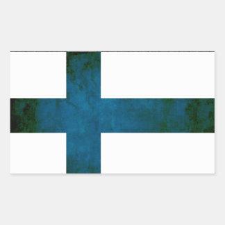 Colorful Contrast Finnish Flag Rectangular Sticker