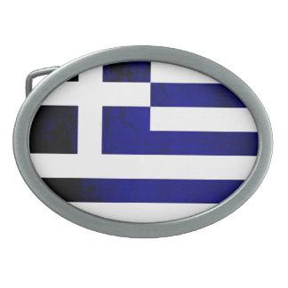 Colorful Contrast Greek Flag Belt Buckle