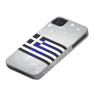 Colorful Contrast Greek Flag iPhone 4 Case-Mate Case