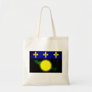 Colorful Contrast Guadeloupean Flag Canvas Bags
