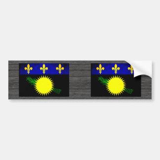 Colorful Contrast Guadeloupean Flag Car Bumper Sticker