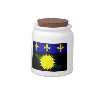 Colorful Contrast Guadeloupean Flag Candy Jars