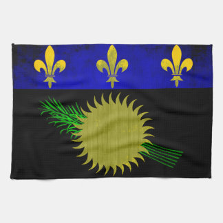 Colorful Contrast Guadeloupean Flag Hand Towels
