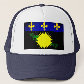 Colorful Contrast Guadeloupean Flag Trucker Hat