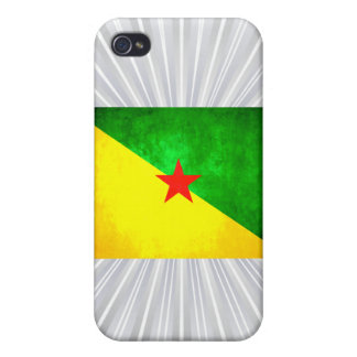 Colorful Contrast Guianese Flag iPhone 4 Cases