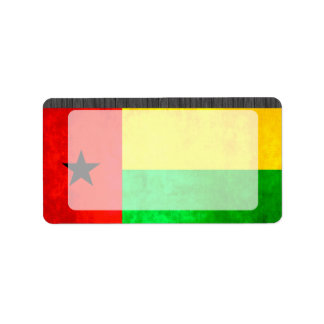 Colorful Contrast Guinean Flag Label