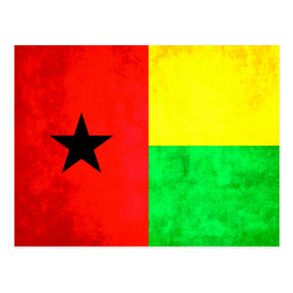 Colorful Contrast Guinean Flag Postcard