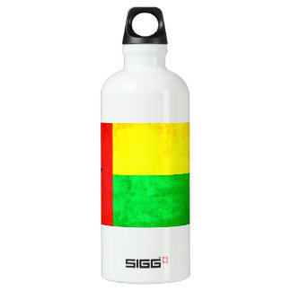 Colorful Contrast Guinean Flag Water Bottle