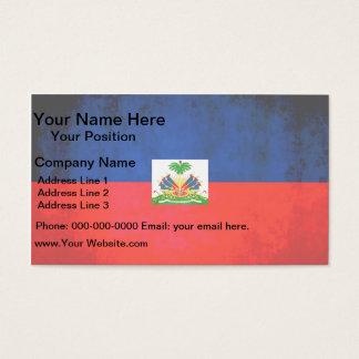 Colorful Contrast Haitian Flag Business Card