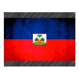 Colorful Contrast Haitian Flag Postcard