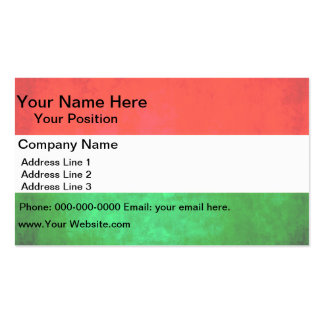 Colorful Contrast Hungarian Flag Business Card