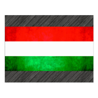 Colorful Contrast Hungarian Flag Postcard