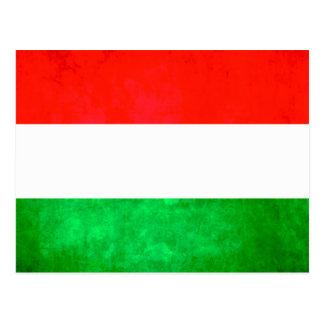 Colorful Contrast Hungarian Flag Postcard