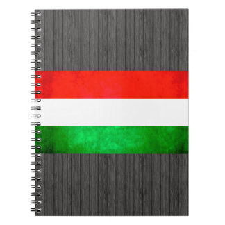 Colorful Contrast Hungarian Flag Spiral Notebook