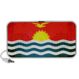 Colorful Contrast I-Kiribati Flag iPhone Speaker