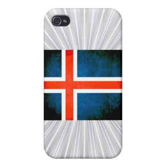 Colorful Contrast Icelander Flag iPhone 4 Case
