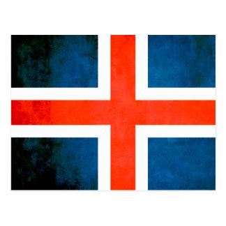 Colorful Contrast Icelander Flag Postcard