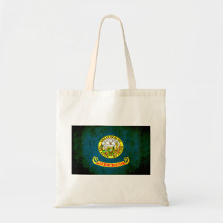 Colorful Contrast Idahoan Flag Canvas Bags