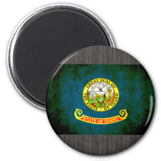 Colorful Contrast Idahoan Flag Refrigerator Magnet