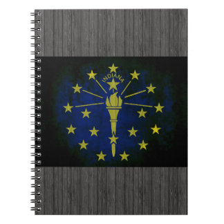 Colorful Contrast Indianan Flag Spiral Note Books
