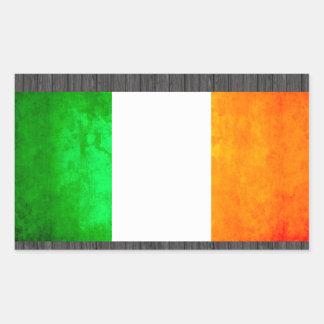 Colorful Contrast Irish Flag Rectangular Sticker