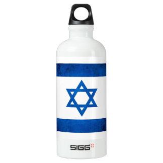 Colorful Contrast Israeli Flag Aluminum Water Bottle