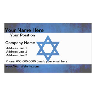 Colorful Contrast Israeli Flag Business Card