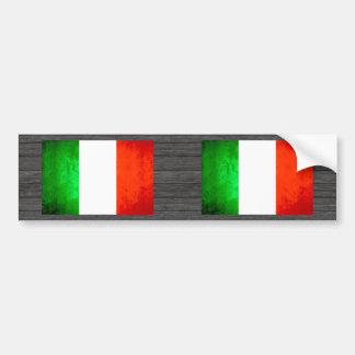 Colorful Contrast Italian Flag Bumper Stickers