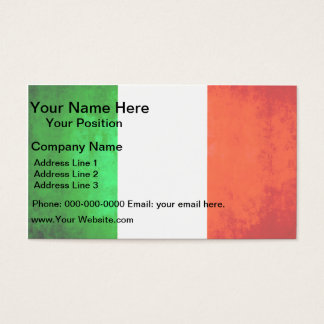 Colorful Contrast Italian Flag Business Card
