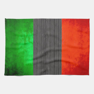 Colorful Contrast Italian Flag Hand Towel
