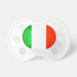Colorful Contrast Italian Flag Pacifier