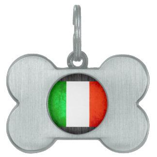 Colorful Contrast Italian Flag Pet ID Tags
