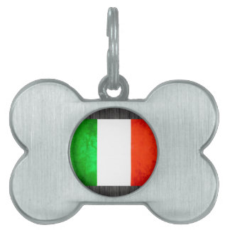 Colorful Contrast Italian Flag Pet ID Tags