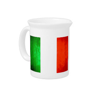Colorful Contrast Italian Flag Beverage Pitchers